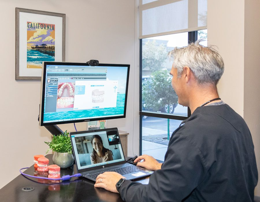 Dr G doing a virtaul consultation